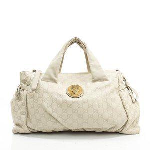 Auth Gucci Guccissima Tote Bag White #19039G27